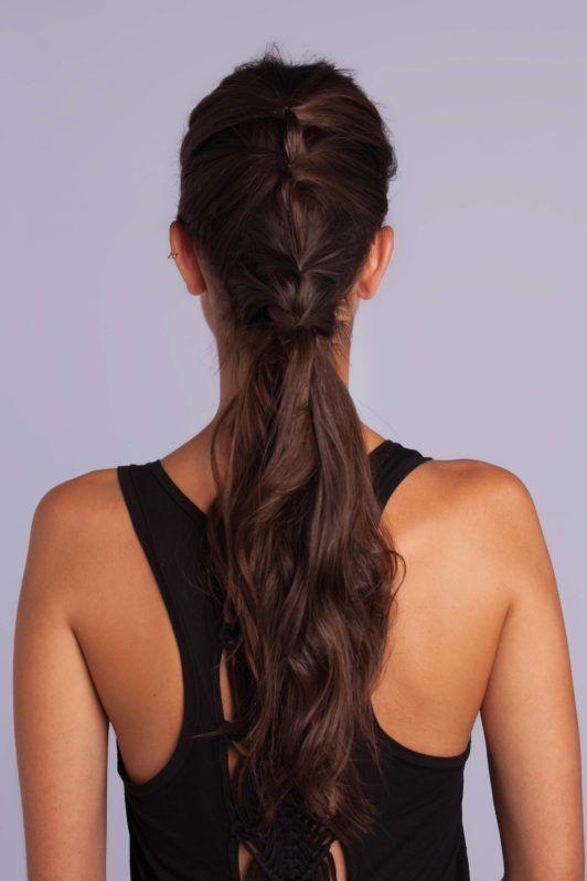 braid styles tutorial: half-up hair