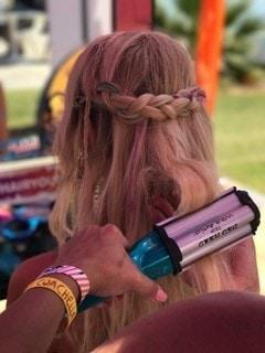 crimped festival hair braid