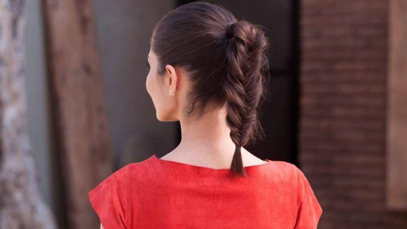 fishbone braid tutorial: Fishtail Ponytail