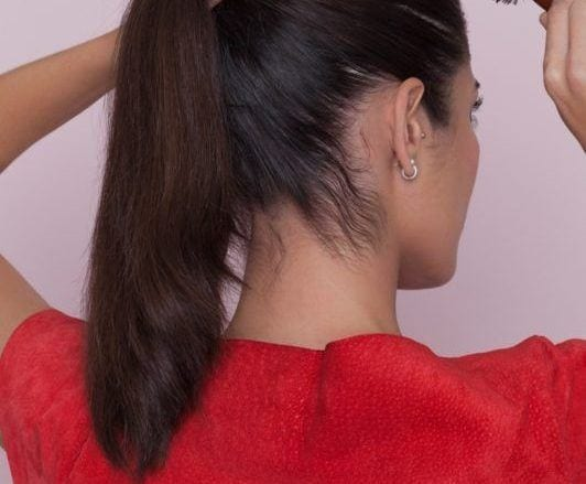 how to create a fishtail braid ponytail: brush your hair
