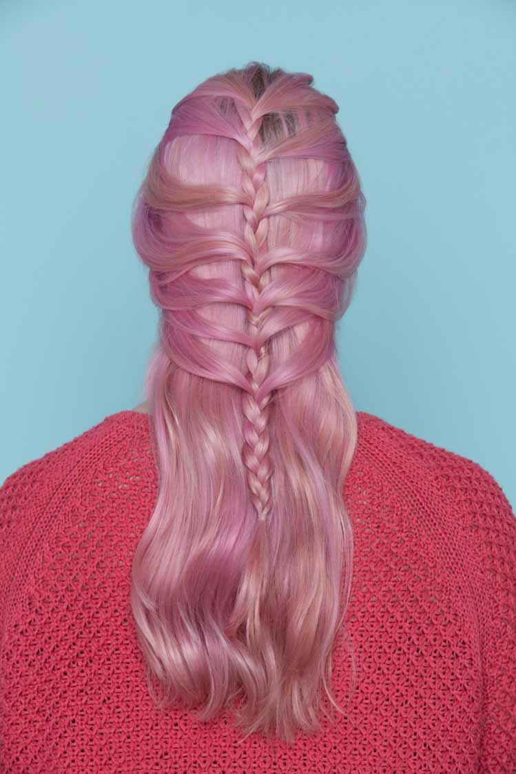 hair braiding: mermaid braid