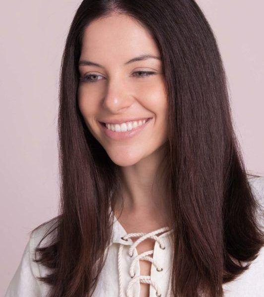 hidden braid tutorial on straight hair
