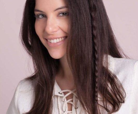 hidden braid tutorial: secure with a hair tie