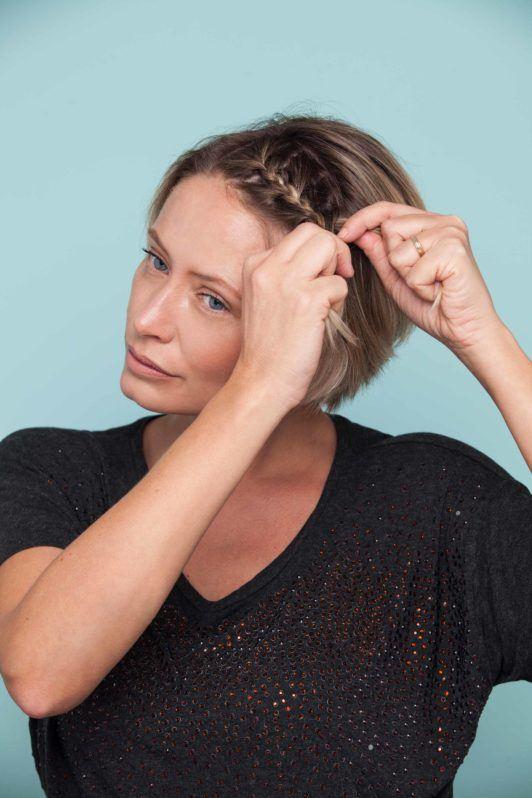 how to braid bangs tutorial