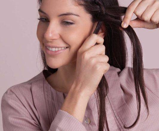 how to do a headband braid: start braiding
