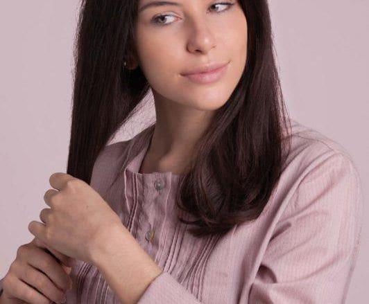 how to do a headband braid: clean hair