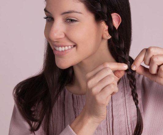 how to do a headband braid: braiding