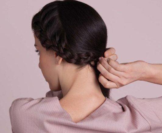 how to do a headband braid: tuck under