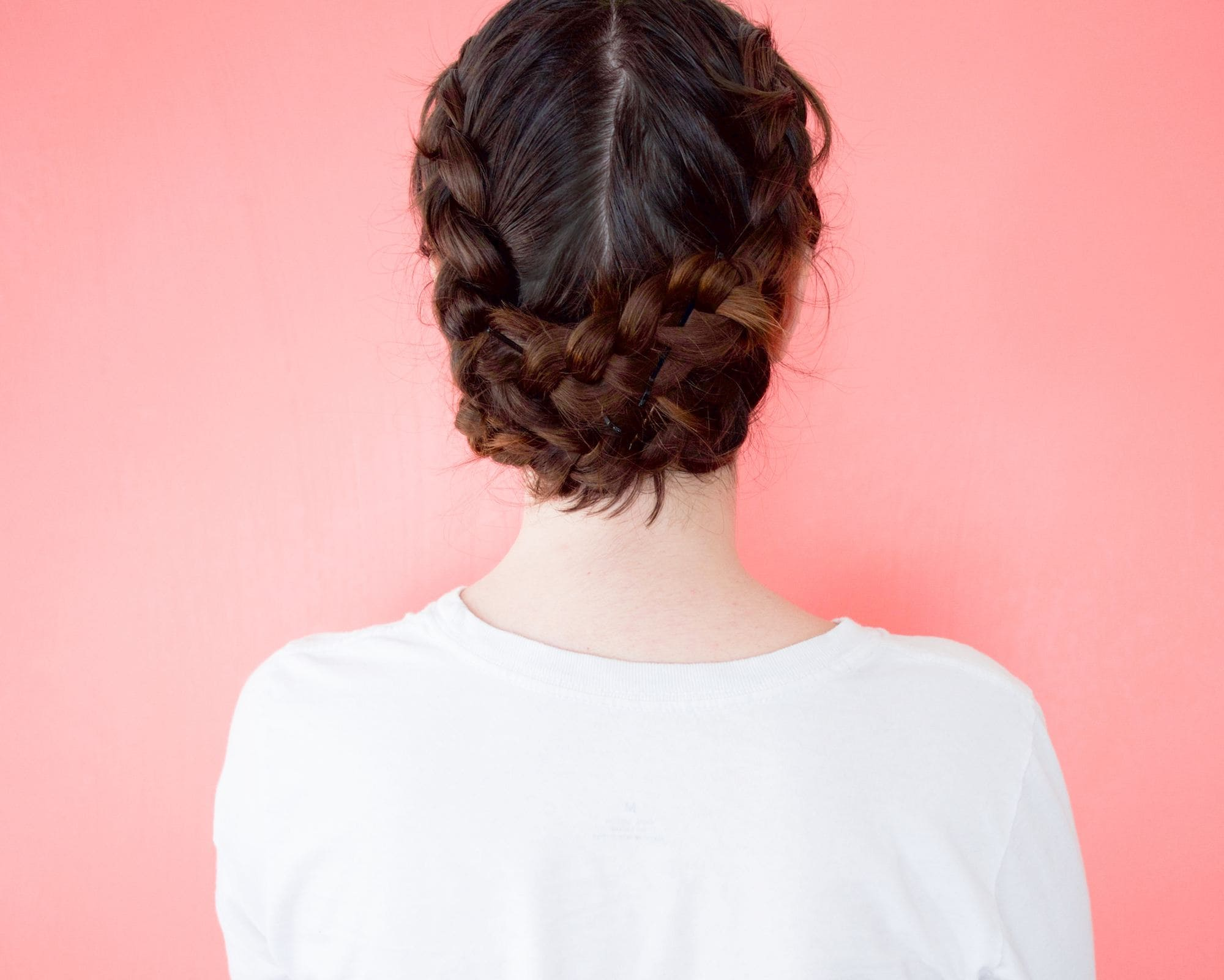 inside out braid bun on thick hair
