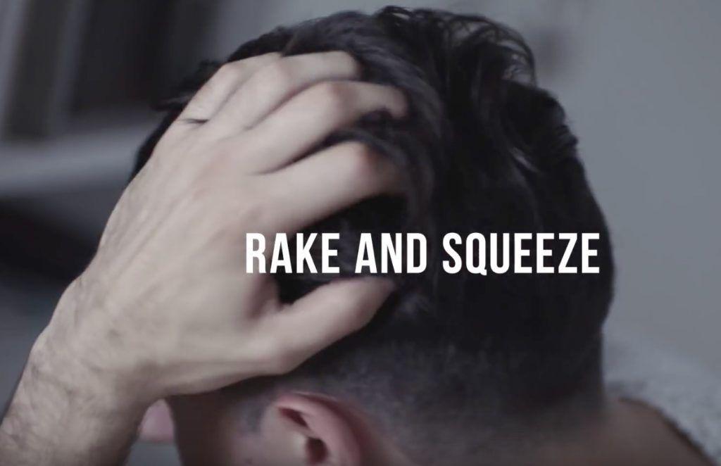 style fade hair: raking hair product through hair