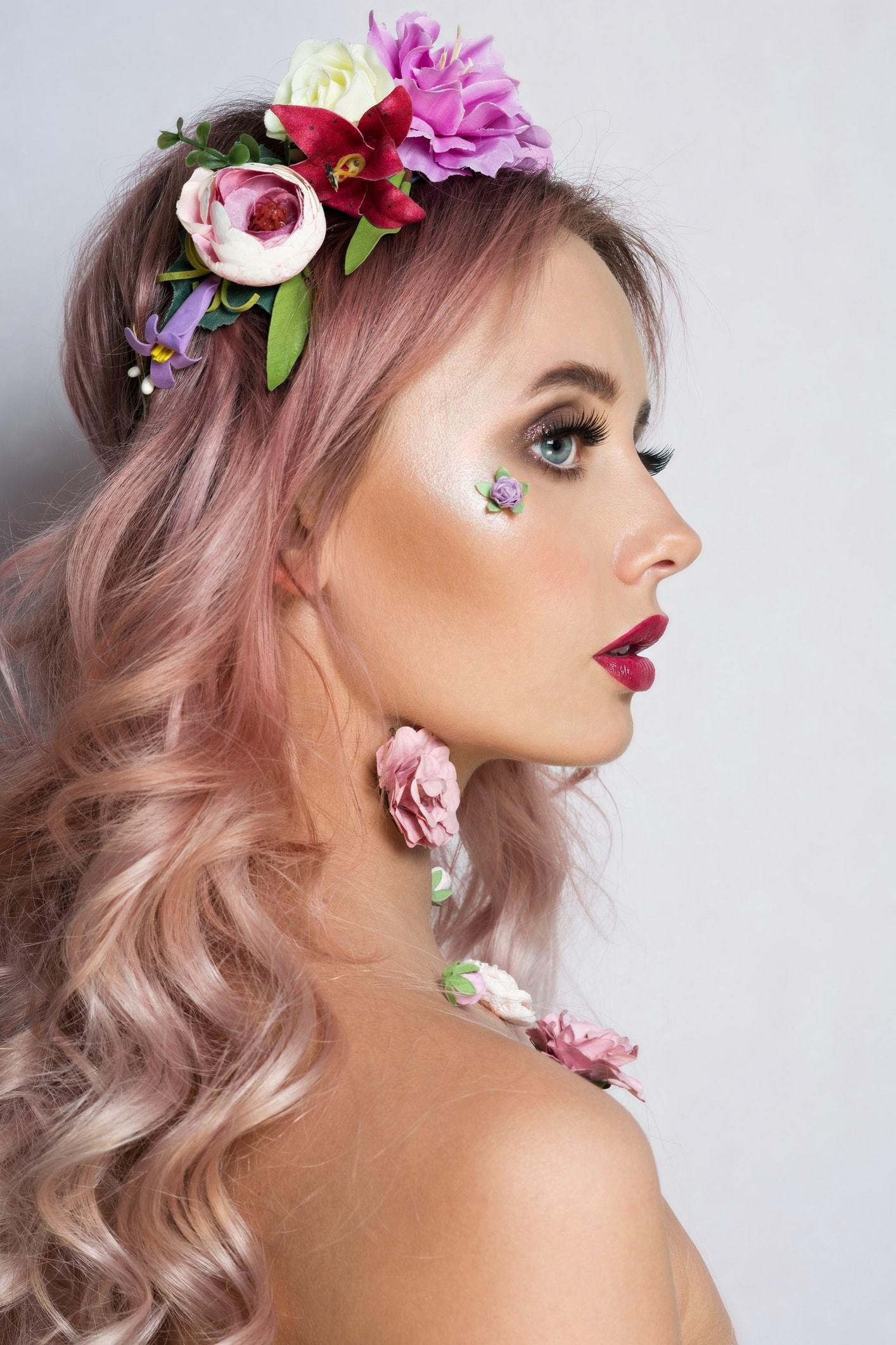 pastel hair colors light pink curls