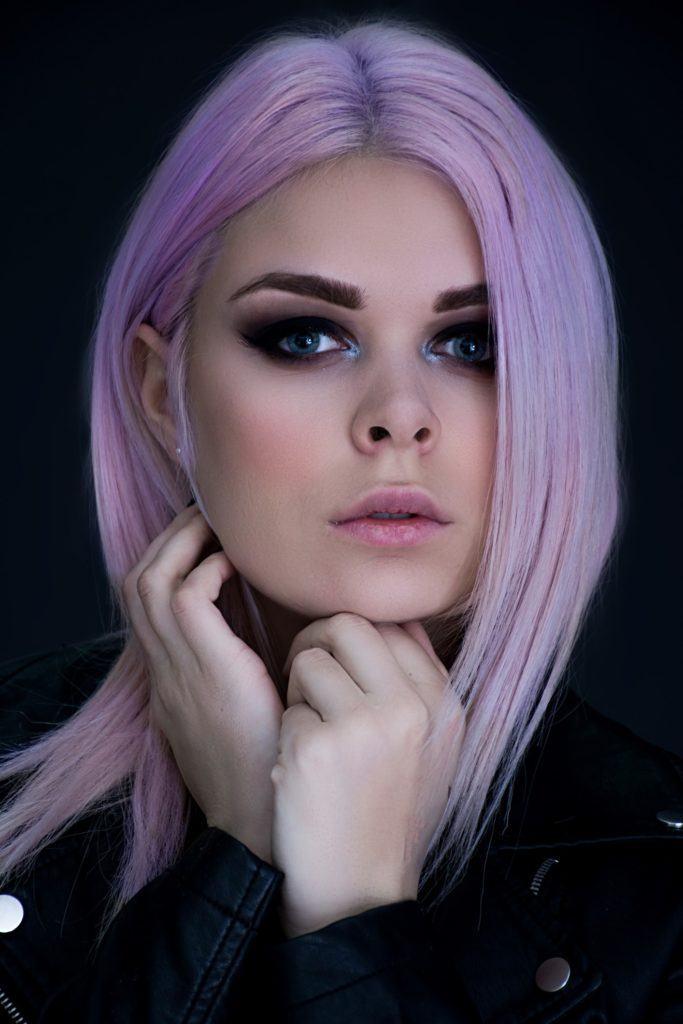 pastel hair colors purple straight hair