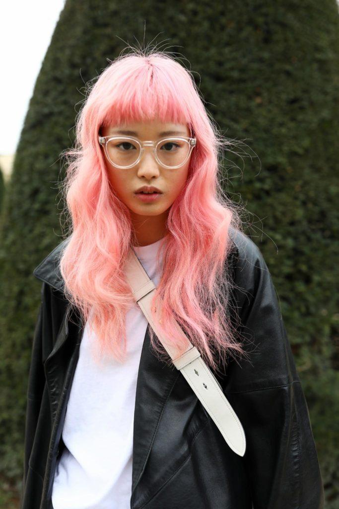 pastel hair colors: pink hair
