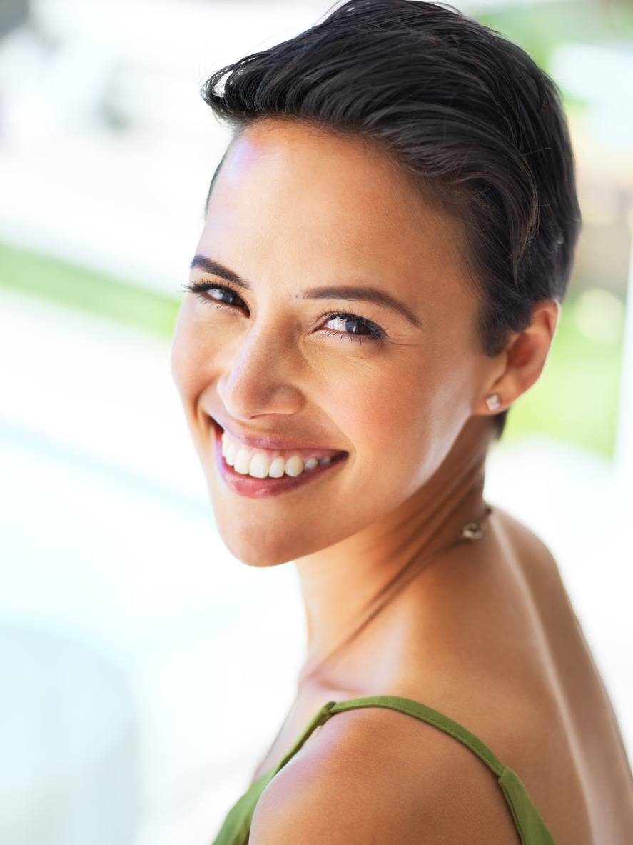 short summer haircuts: pixie slicked back
