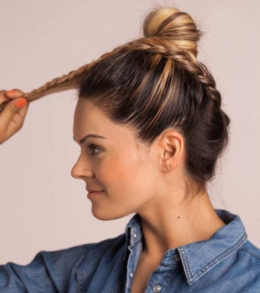 upside down braid: finish your braid