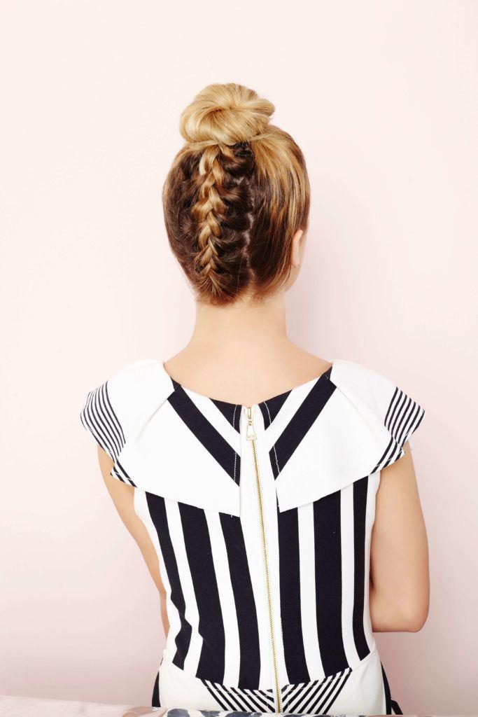 upside down french braid bun