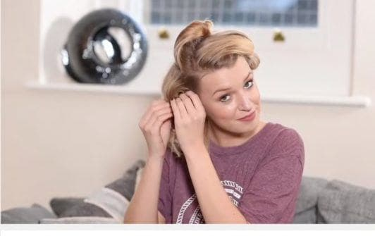 50s hairstyles remove pins
