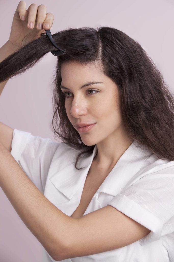 section your hair to create 50s hairstyles