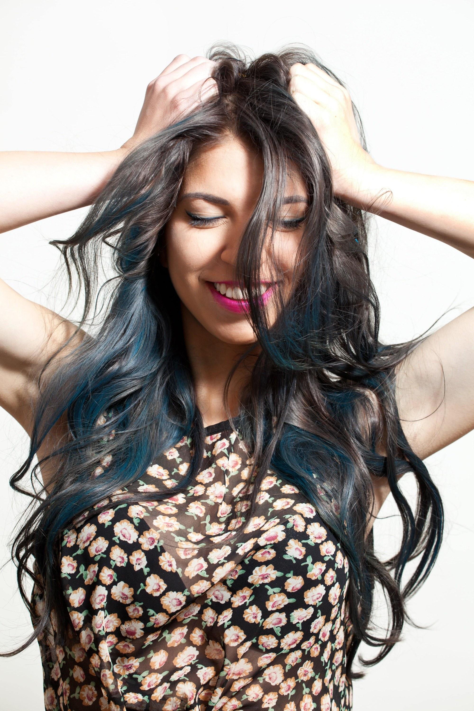 blue hair subtle ombre