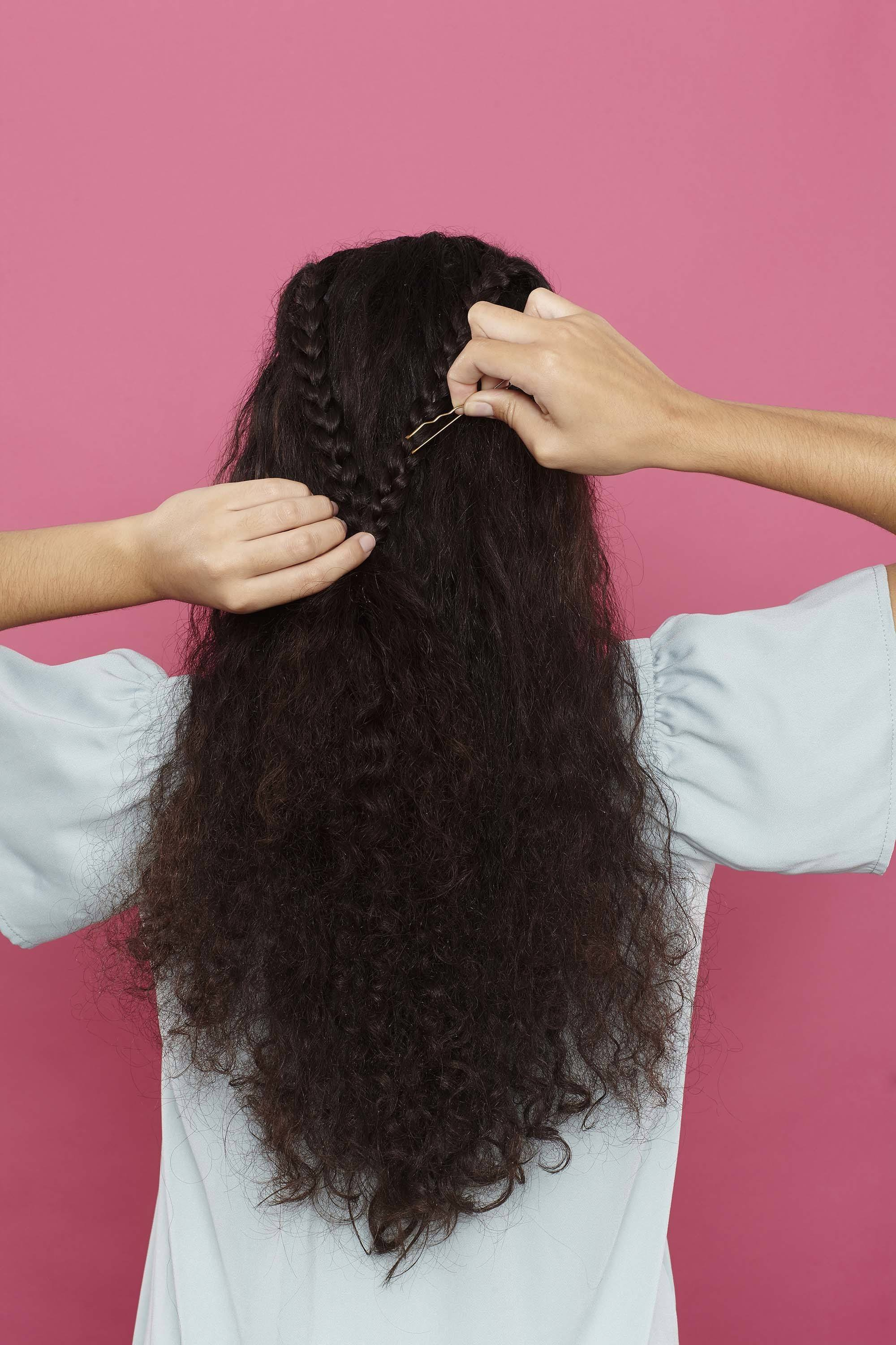 bobby pin hairstyles on curly hair