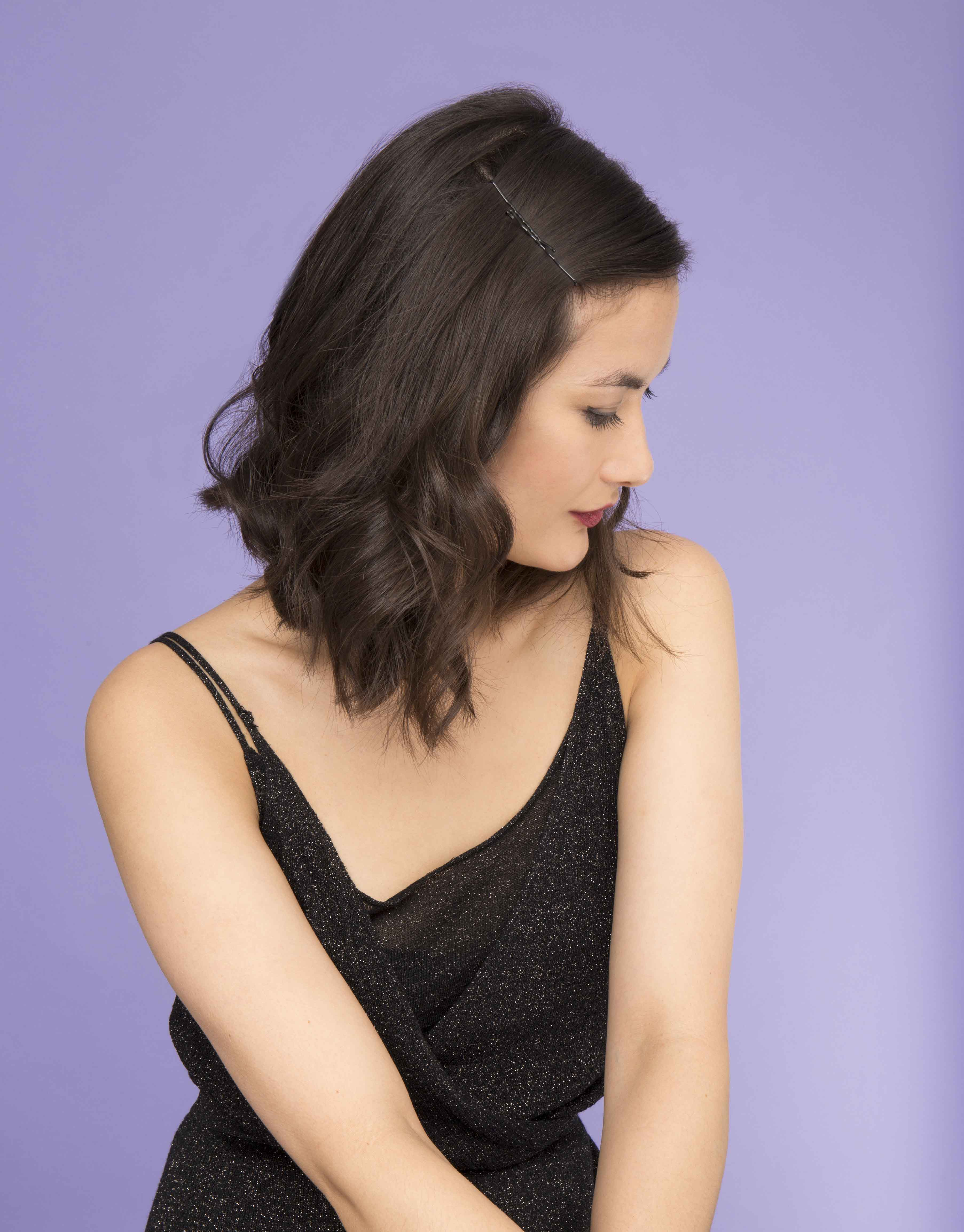 bobby pin hairstyles with a lob