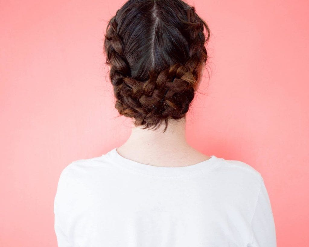 Dutch pigtail braided updos for long hair