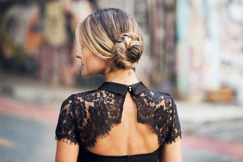 fishtail bun braided updos for long hair