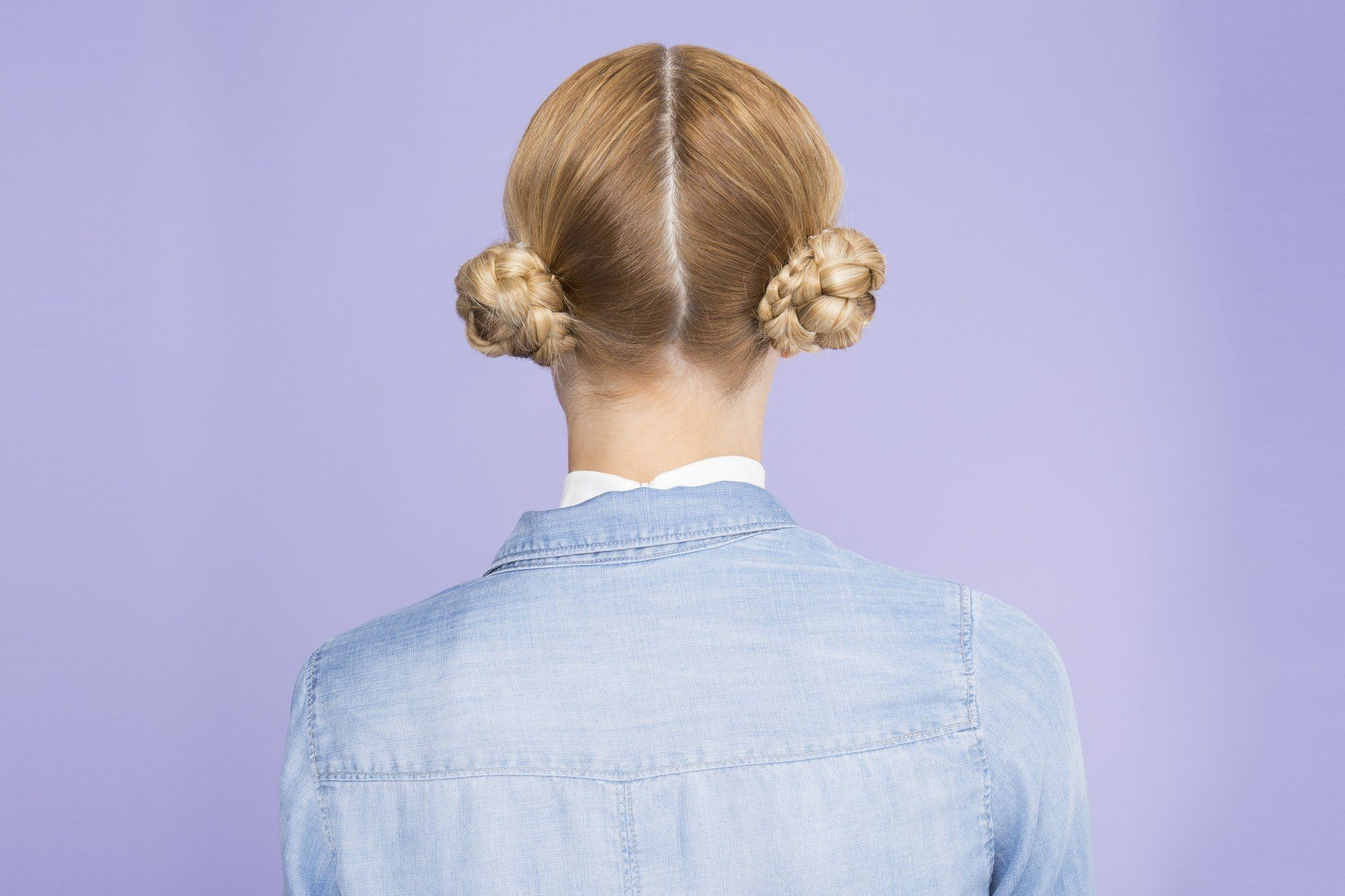low space bun braided updos for long hair