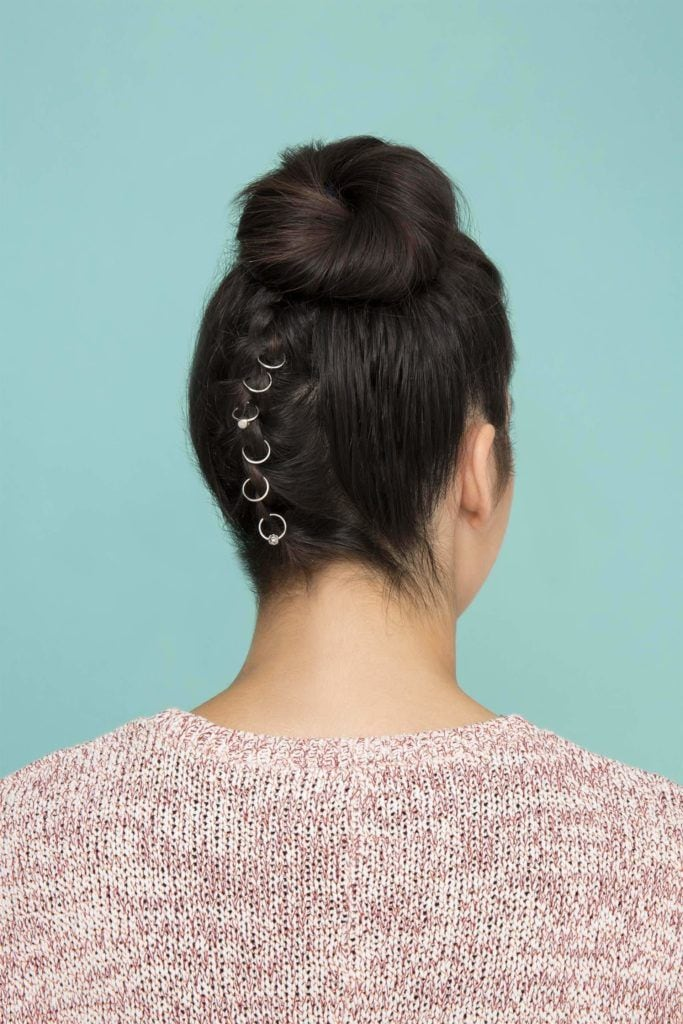 rings on braided updos for long hair