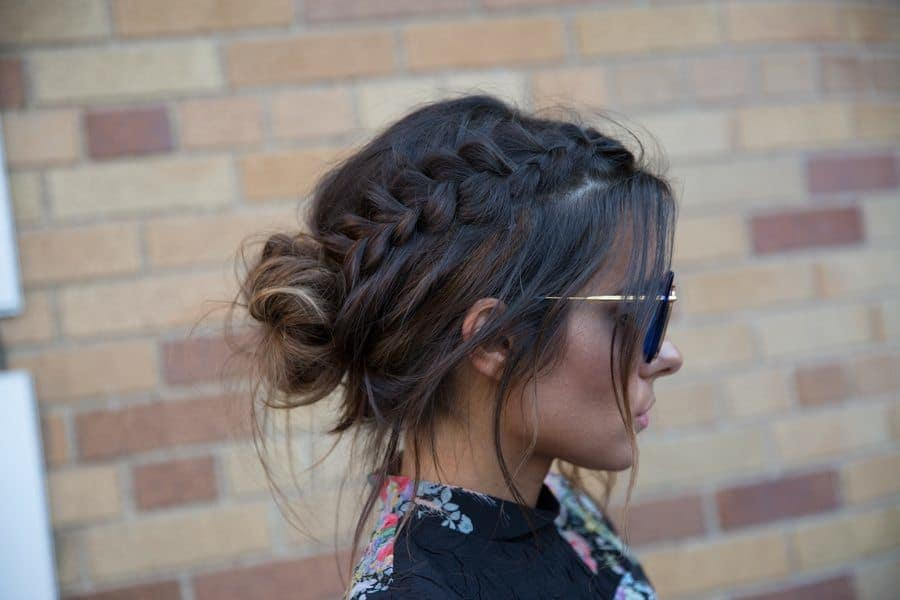 wispy bun braided updos for long hair