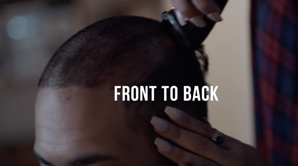 buzz cut tutorial shave front to back