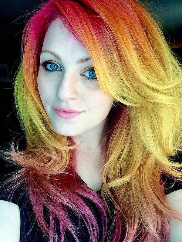 citrus hair color on ursula goff