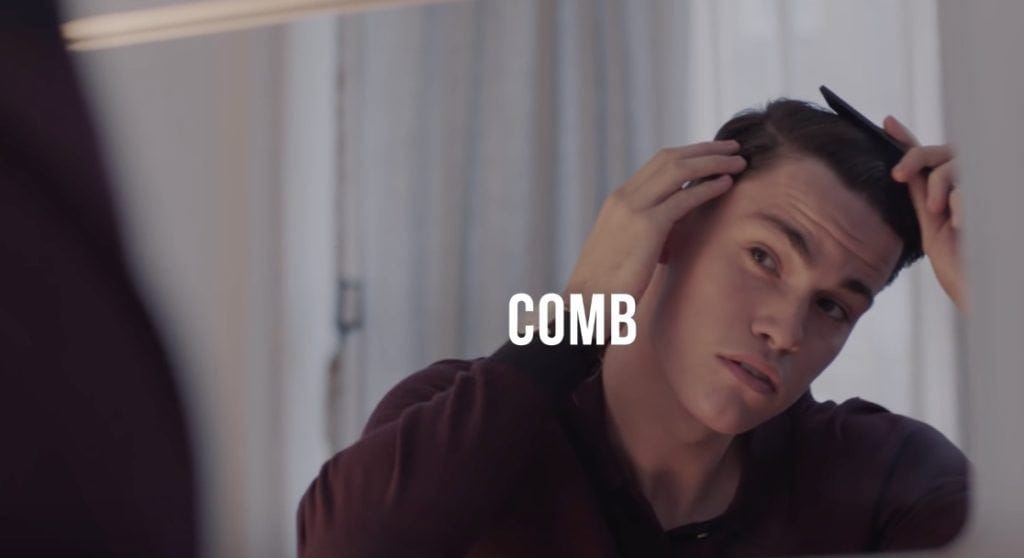 combover hairstyle: comb hair over