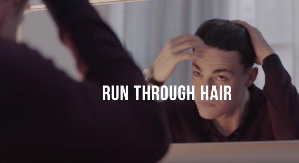 combover hairstyle: run pomade through hair