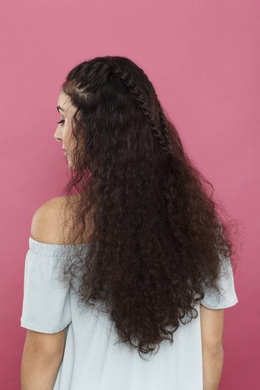 curly braided hairstyles: final look