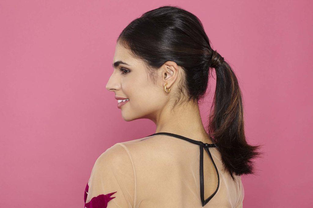 elegant ponytail tutorial: final look