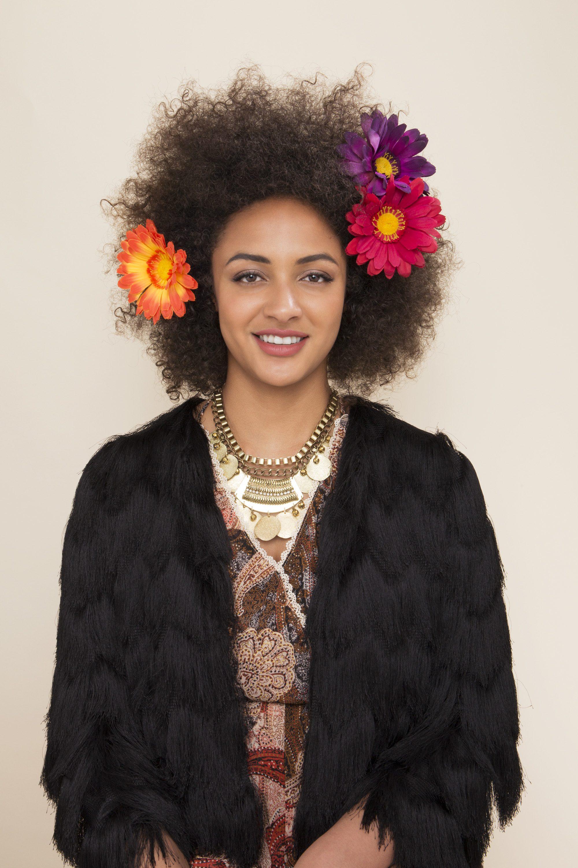 floral afro: gerbera daisies