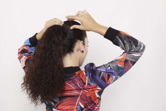 gym hairstyles for curly hair high ponytail