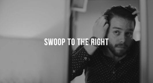 how to style a side part with a swoop