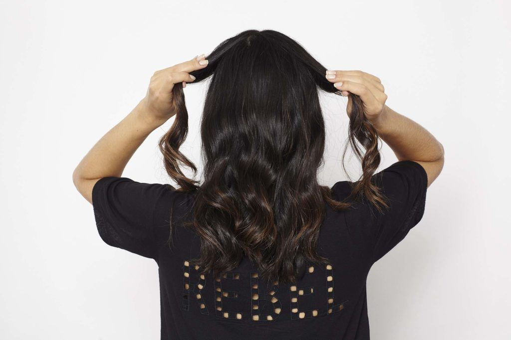 knotted ponytail twist hair