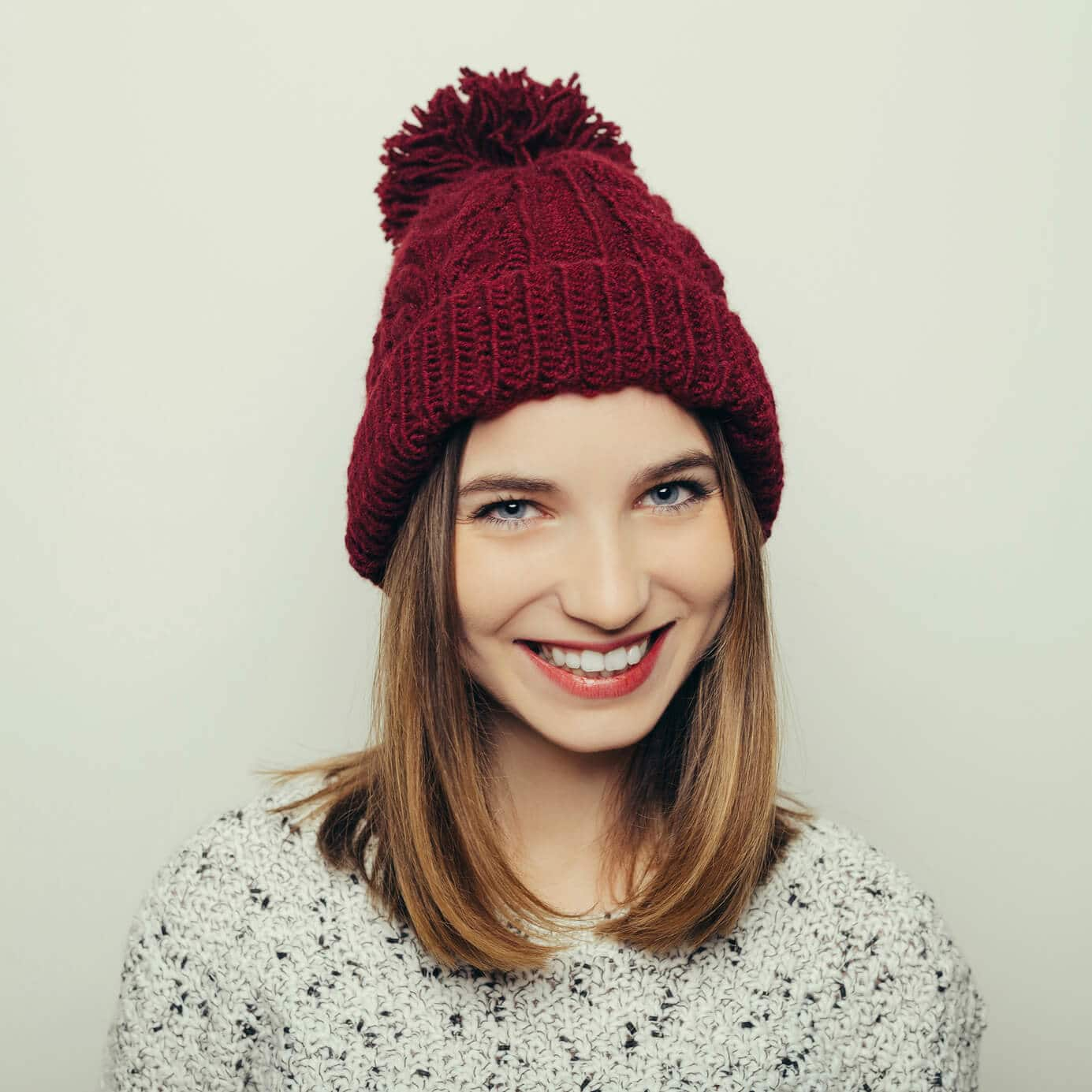 long bob hairstyles with a hat