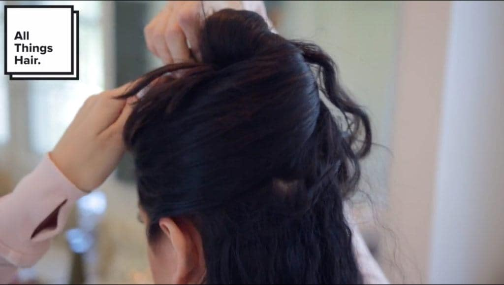 section off your updos for medium hair