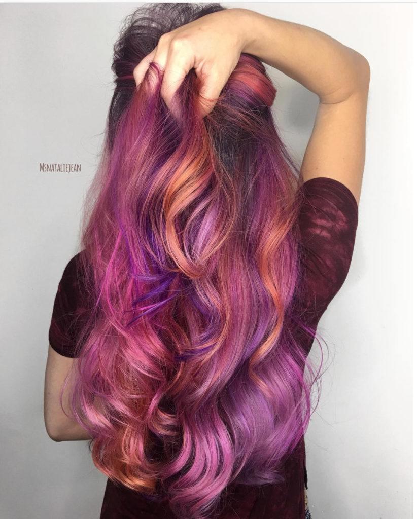 tropical purple hair