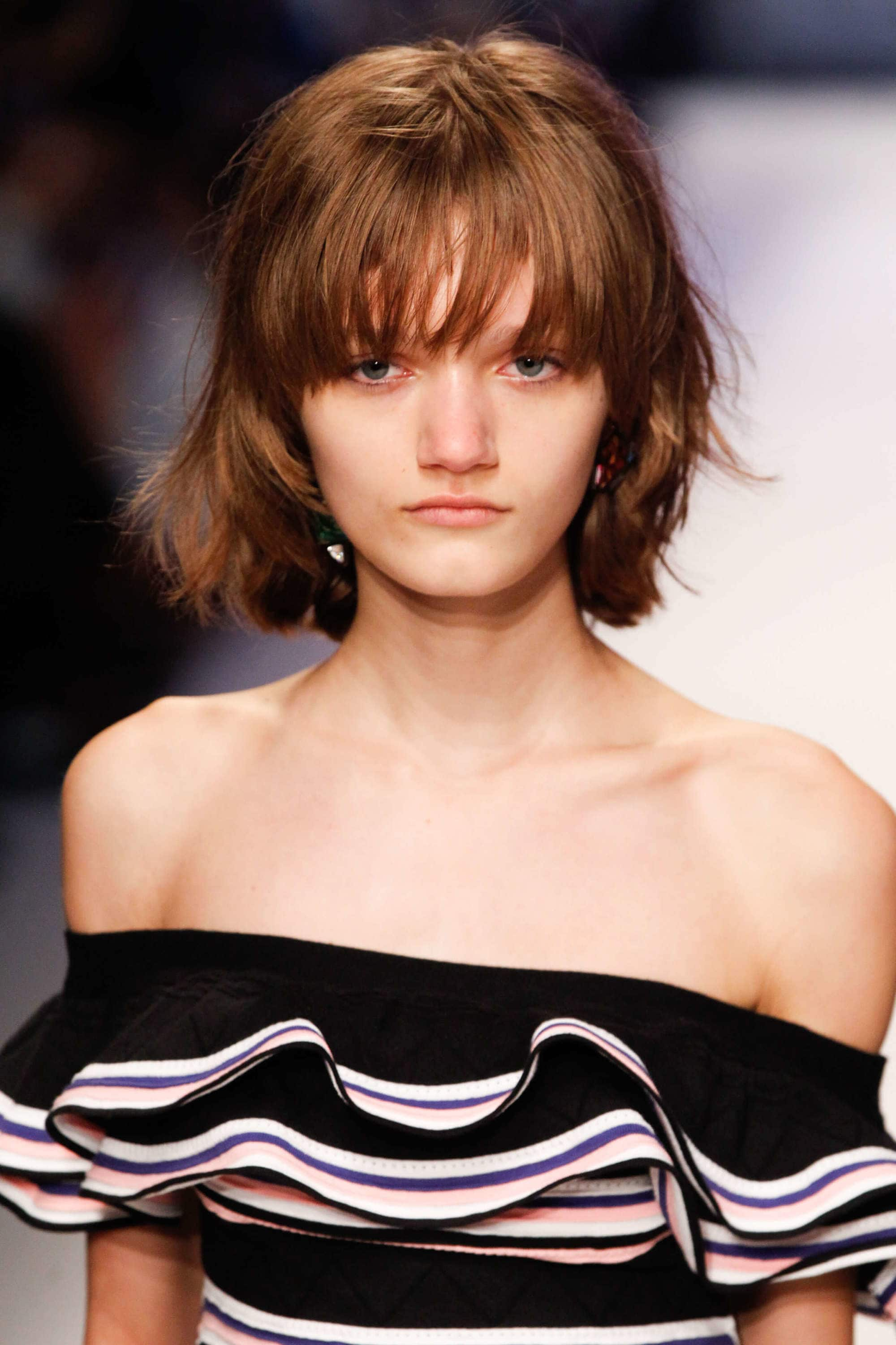 short choppy hairstyles with thick bangs