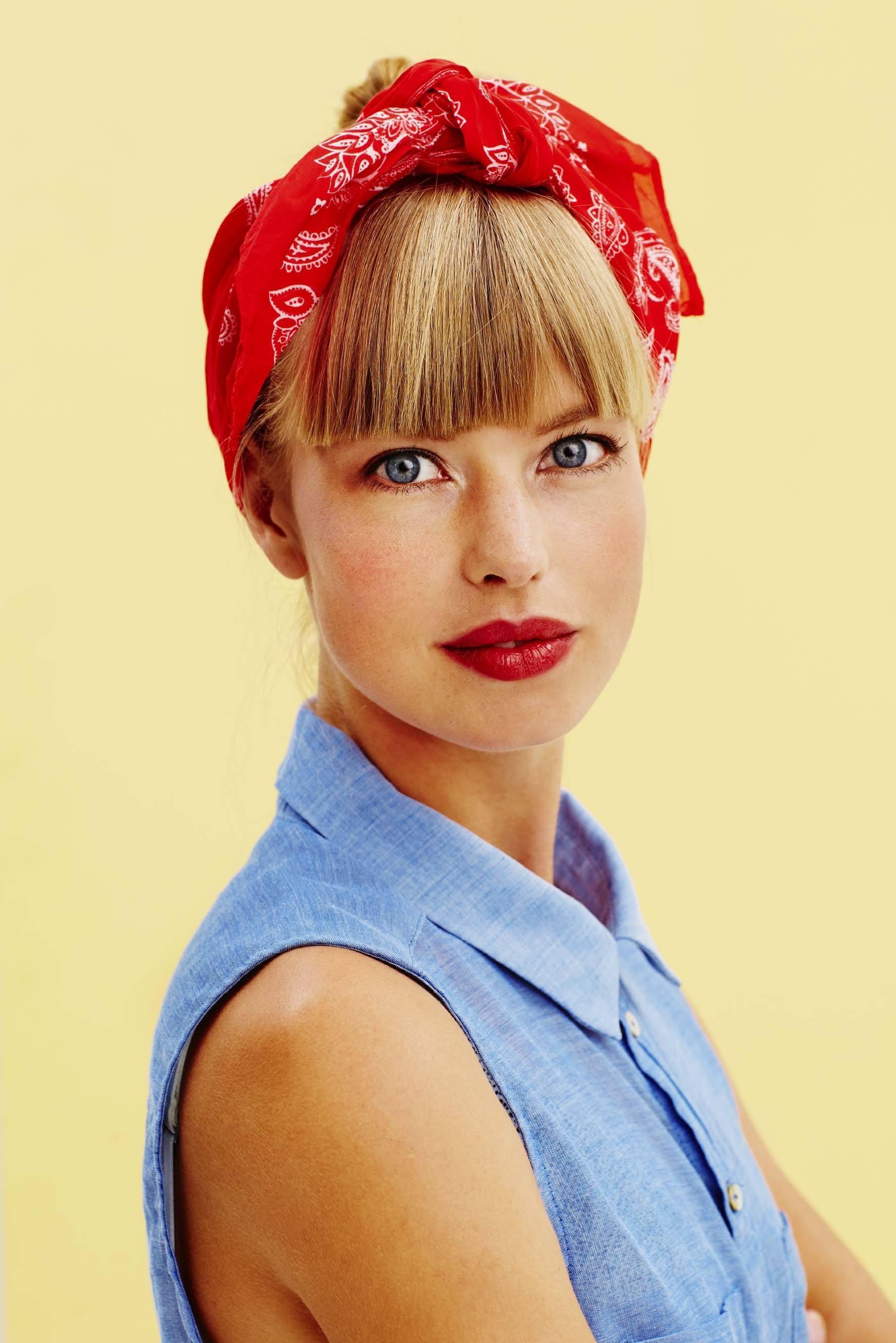 spring hair accessories red bandana