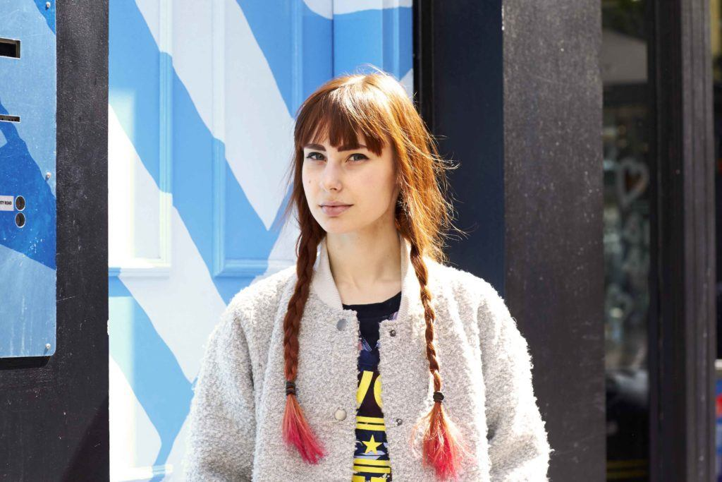 two braids: Dip-Dyed Ends