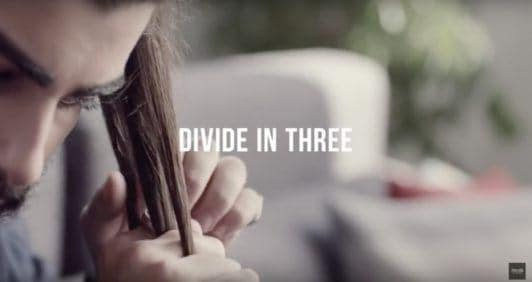 warrior braids divide your hair