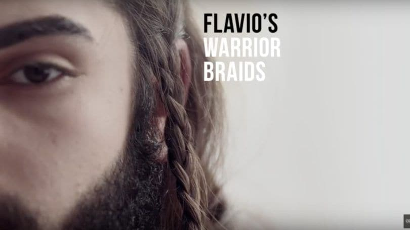 warrior braids final look