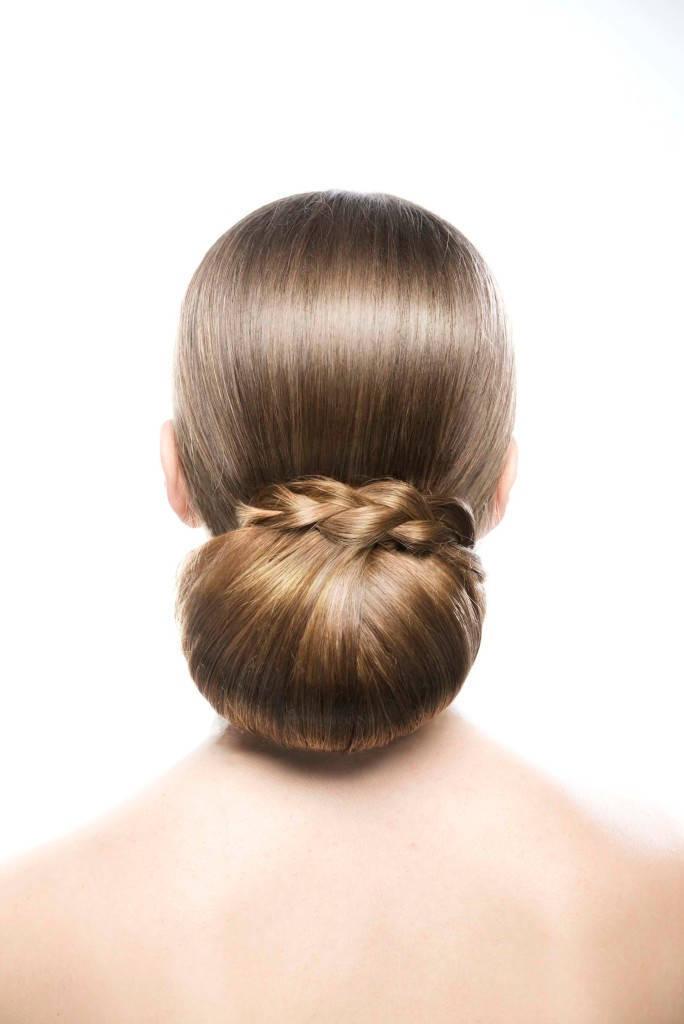 wedding braids low bun three strand braid