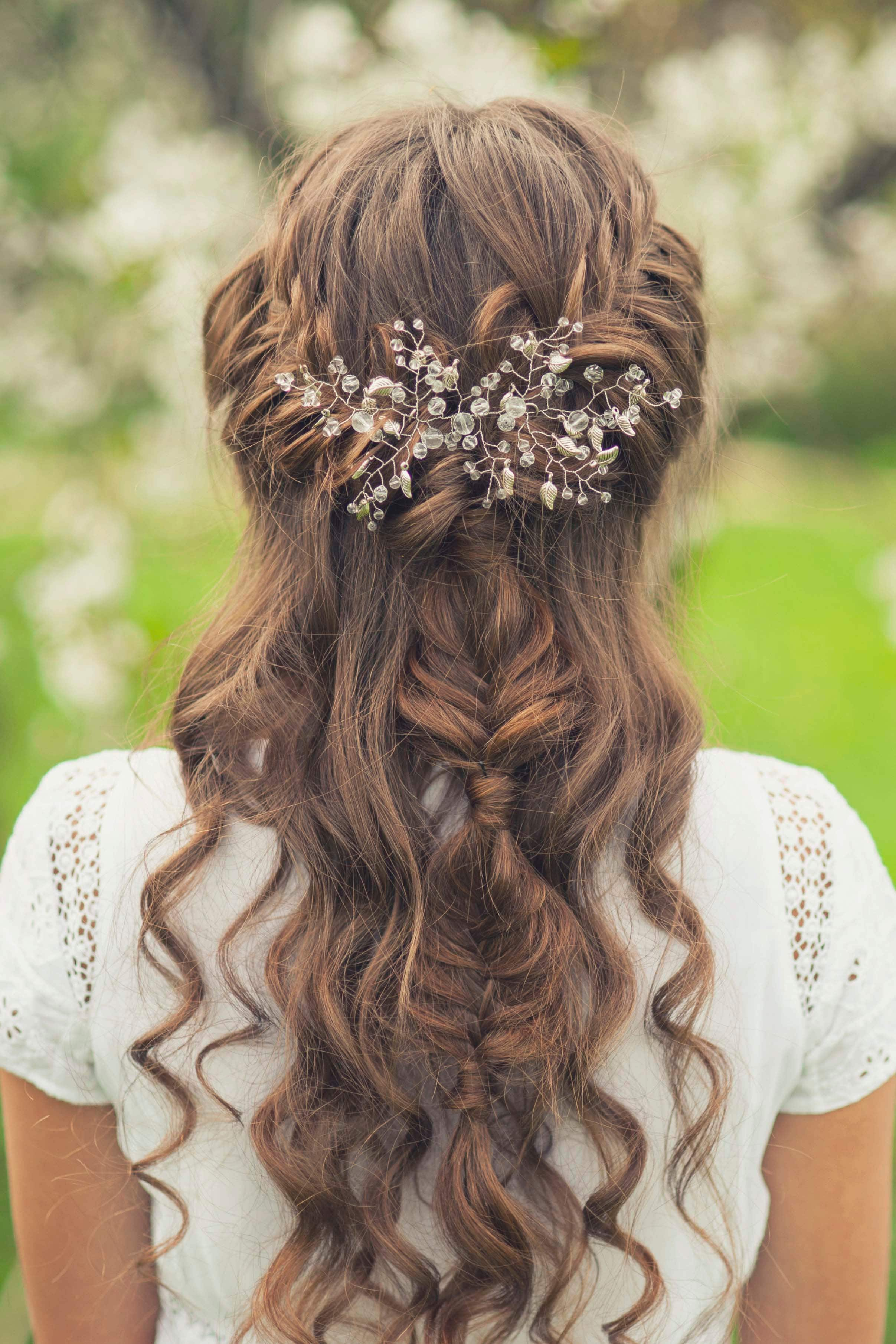 wedding braids on curly hair